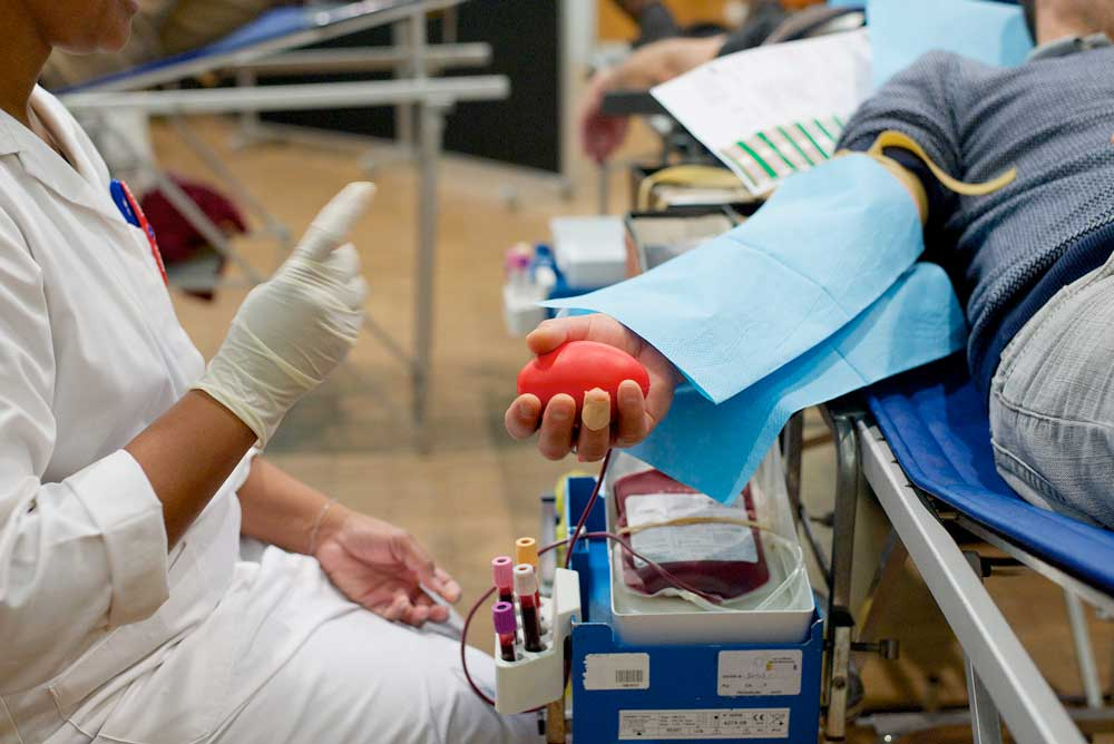 Blood donation activities are held annually